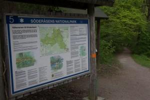 Välkomstskylt till Söderåsens nationalpark