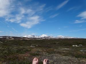 Utsikten påväg till Fältjägarstugan