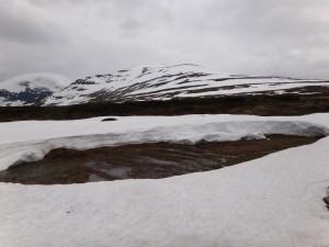 En del del snö och allmänt blött
